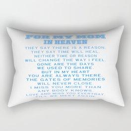 My Mom In Heaven Rectangular Pillow
