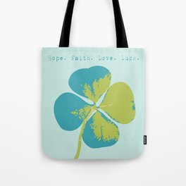 Blue Clover Tote Bag