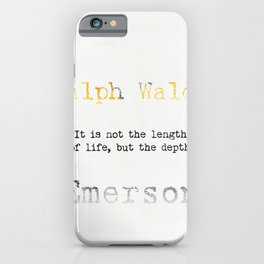 Ralph Waldo Emerson quote iPhone Case