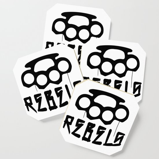 Rebels Brass Knuckles Coaster By Grimelab Society6