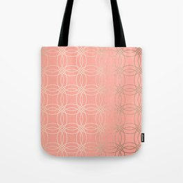 Simply Vintage Link in White Gold Sands and Salmon Pink Tote Bag