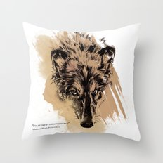 Solitude is independence Throw Pillow