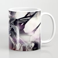 evangelion Mugs featuring Kaworu Nagisa the Sixth. Rebuild of Evangelion 3.0 Digital Painting. by Barrett Biggers