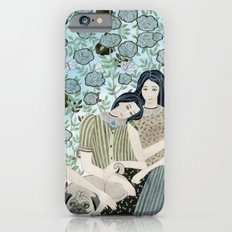 Girls With Pugs Among Roses Slim Case iPhone 6s