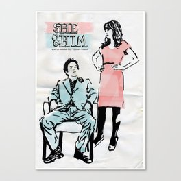 She & Him Gig Poster Canvas Print