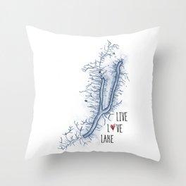 Keuka Live Love Lake Throw Pillow