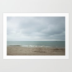 Last Day at the Beach Art Print