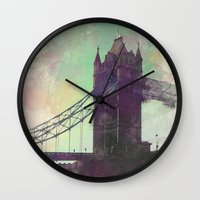 bridge Wall Clocks featuring Bridge by Nechifor Ionut