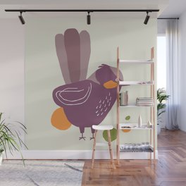 Quirky Superb Fairywren Wall Mural