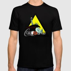 There is NO global warming! CONSUME Black Mens Fitted Tee MEDIUM