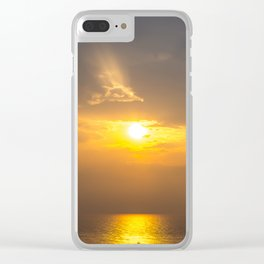 sunset over andaman sea Clear iPhone Case