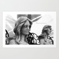 guardians Art Prints featuring Guardians  by EarthyMoonArts