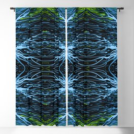 Emerald Ice Lightning III by Chris Sparks Blackout Curtain