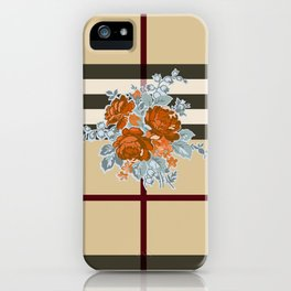 Flower in brown pattern iPhone Case