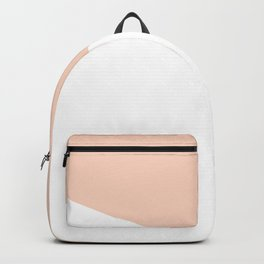 Geometric Blush Pink + White Backpack