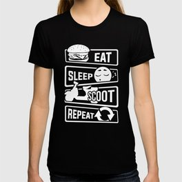 Eat Sleep Scoot Repeat - Scooter Cruise Italy T-shirt