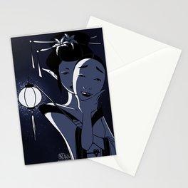 Noh Mask - Waka Onna Stationery Cards