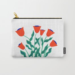 Summer Orange Flowers Carry-All Pouch