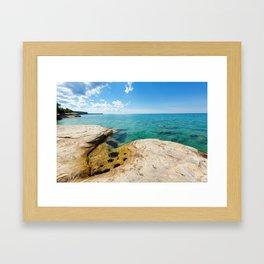 The Coves on Lake Superior - Pictured Rocks Framed Art Print