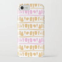 rose gold iPhone & iPod Cases featuring Rose + Gold by Kat Rutt Design