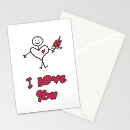 Heartman - I Love You Stationery Cards