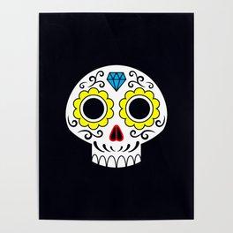 Sugar skull for a cake Poster
