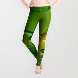 Sunrays through the grasses - An abstract illustration  Leggings