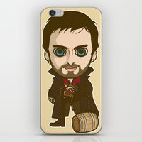 captain hook iPhone & iPod Skins featuring Captain Hook by Samtronika