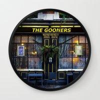 arsenal Wall Clocks featuring The Gooners by David Pyatt