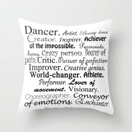 Dancer Description Throw Pillow