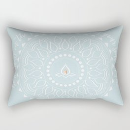 Be fearless quote - blue Rectangular Pillow