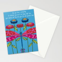 Law of Attraction Dragonfly Stationery Cards