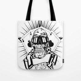 Aviator skull art, custom gift design Tote Bag