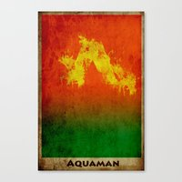 aquaman Canvas Prints featuring AquaMan by Nicholas Hyde