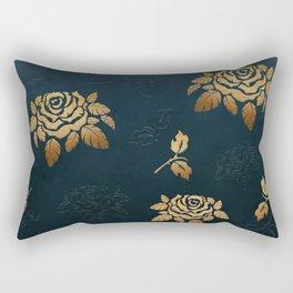 Golden Rose - Glitter Pattern Rectangular Pillow