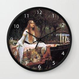 The lady of shalott painting  Wall Clock