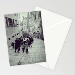 School trip day in Croix-Rousse, Lyon | Street Photography that will make you smile Stationery Cards