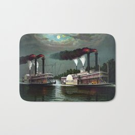 Race Of The Steamers Robert E. Lee and Natchez Bath Mat