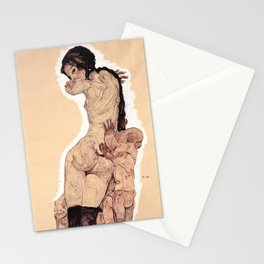 Egon Schiele - Woman with Homunculus Stationery Cards