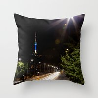 seoul Throw Pillows featuring Seoul Tower by Marisa Johnson :: Art & Photography