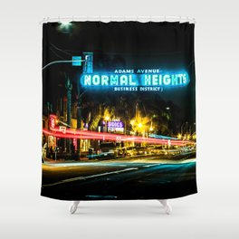Normal Heights (San Diego) Sign - SD Signs Series #2 Shower Curtain