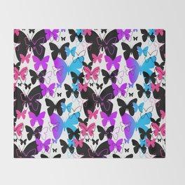 Rainbow Butterfly  Throw Blanket