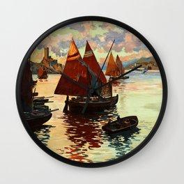 Lake Garda - Vintage Poster Wall Clock