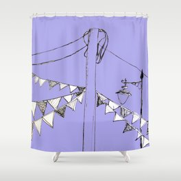 Bring out the Bunting Shower Curtain