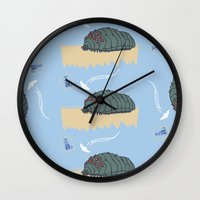 nausicaa Wall Clocks featuring ohmu! by nisimalotse