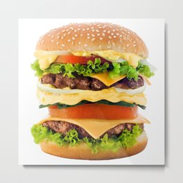 Cheeseburger YUM Metal Print