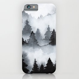 Mist forest watercolor iPhone Case
