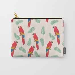 Macaw parrot tropical bird jungle animal nature pattern Carry-All Pouch