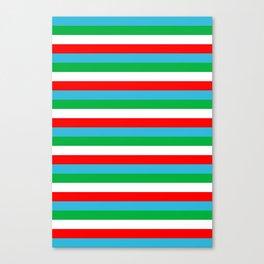 Djibouti Uzbekistan Equatorial Guinea flag stripes Canvas Print