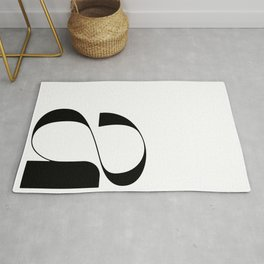 Lowercase Letter 'a' Typography and Type Design Rug